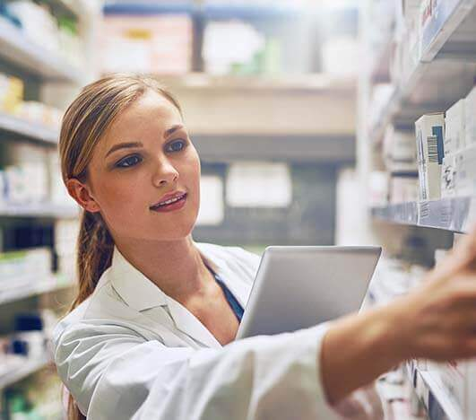 this is an image of pharmacy worker